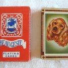 Cocker Spaniel Dog Playing Cards Beau Geste Arrco Pinochle Vintage Full Deck