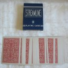 Streamline Vintage Deck Playing Cards Red & White Arrco Linen Finish