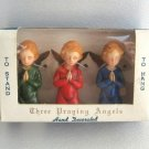 Vintage 1950's Praying Angels Hand Decorated Ornaments British Hong Kong
