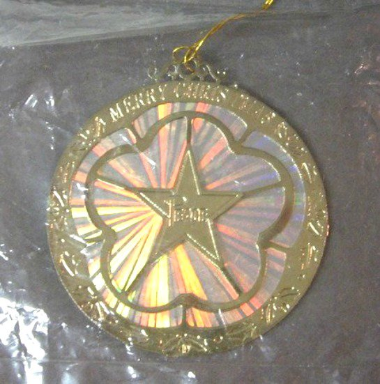 Colorful Merry Christmas Ornament By Roman