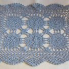 Doily Fancy Blue Design Rectangular 19x13 Large