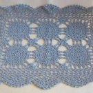 Doily Fancy Blue Design Rectangular 19x13 Large