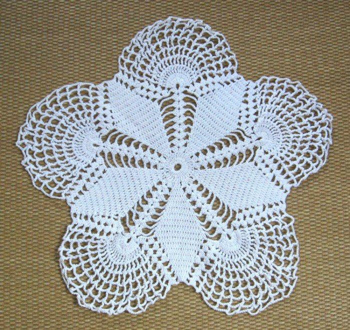 Doily White Handmade Vintage Crocheted