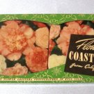 California Claytoons Vintage 1940's Rare Set Of 8 Flower Coasters