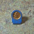National Rifle Association Of America Blue Enamel Vintage Pin Gold 10K Leavens