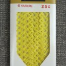 Maize Yellow Rick Rack Vintage Sewing Supplies Donahue Decorative Trim Crafts 100% Cotton