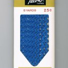 Copen Blue Rick Rack Vintage Sewing Supplies Donahue Decorative Trim Crafts 100% Cotton