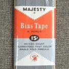 Majesty Grey Bias Tape Single Fold Percale Vintage Sewing Supplies 6 Yards