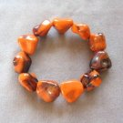Large Orange & Black Beaded Bracelet Unique Color