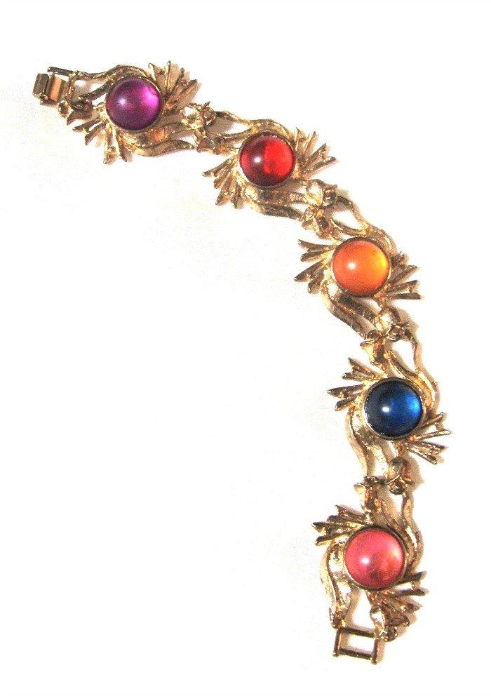 Retro Colorful Cabochon Bracelet Vintage