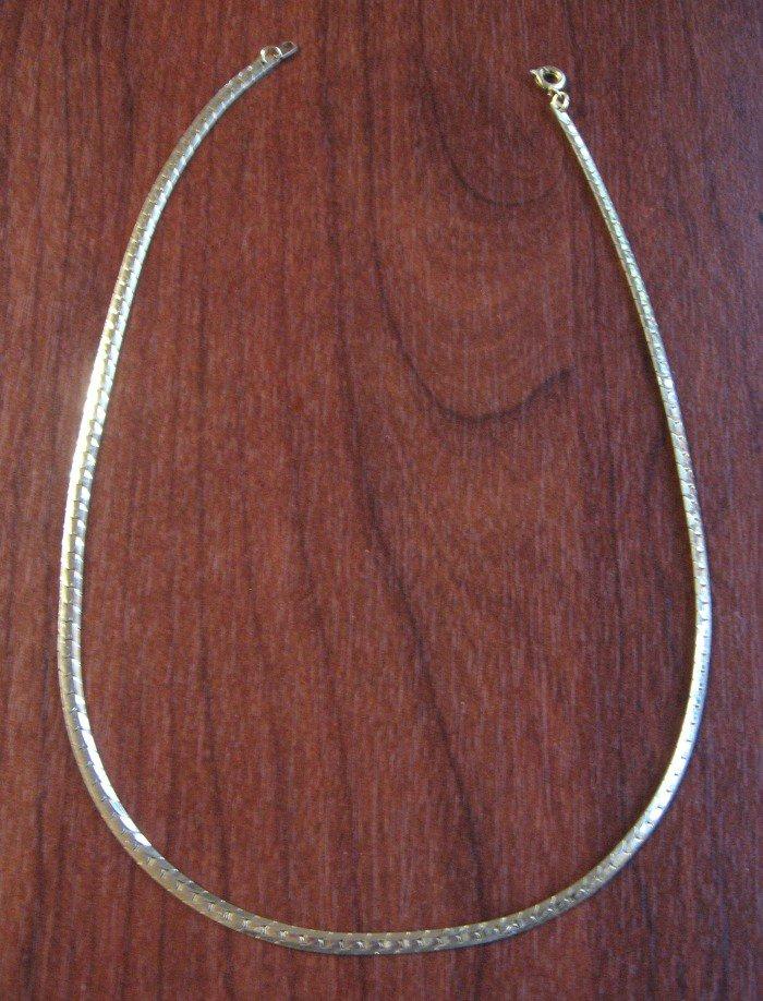 """Vintage Gold Snake Chain Link Necklace 18"""""""