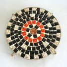 Mosaic Trivet Handcrafted Retro Vintage 1960 Penny Coin Center