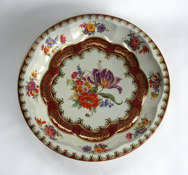 Daher Decorated Ware Tin Bowl Vintage 1971 Flower Made in England