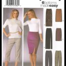 Simplicity Sewing Pattern No. 5259 Pants & Skirts In Two Lengths Misses Sizes 8-14