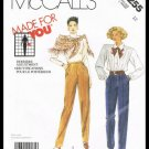 Misses Pants McCall's Made For You Sewing Pattern No. 3255 Size 12 Vintage 1987 Uncut