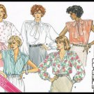 Vintage 1986 Misses Blouse Butterick Sewing Pattern No. 3641 Sizes 18 To 22
