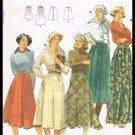 Vintage Misses Skirt Butterick Sewing Pattern No. 5580 Size 30