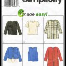 Simplicity Pattern 6 Made Easy No. 7381 Jacket & Tops Misses Sizes 12-16
