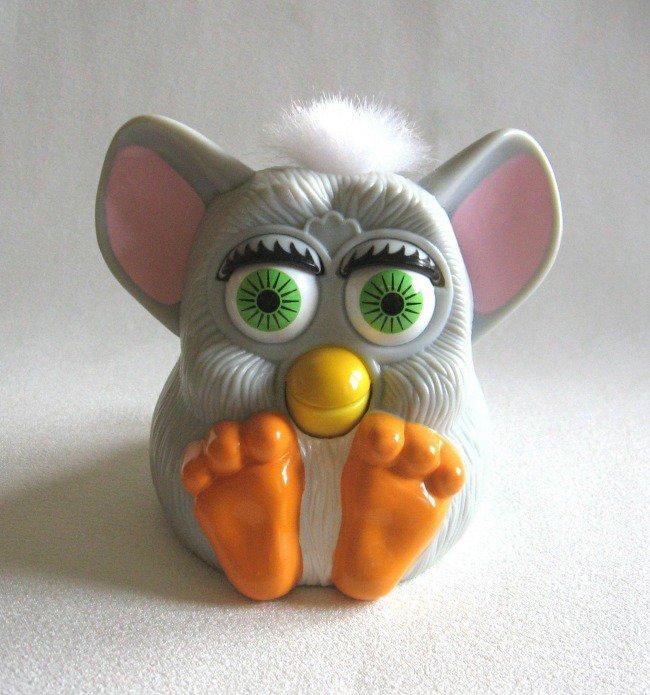 Furby 1998 Gray Mcdonalds Toy