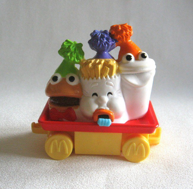 McDonald's Collectible Toy Car Hamburger Fries Drink 1994