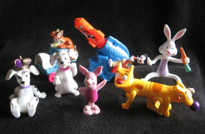 7 Collectible Toys Warner Bros. Animaniacs Wakko Jakko CatDog 101 Dalmations Tigger