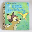 Walt Disney's Bambi & The Butterfly Hardcover Book Vintage 1982