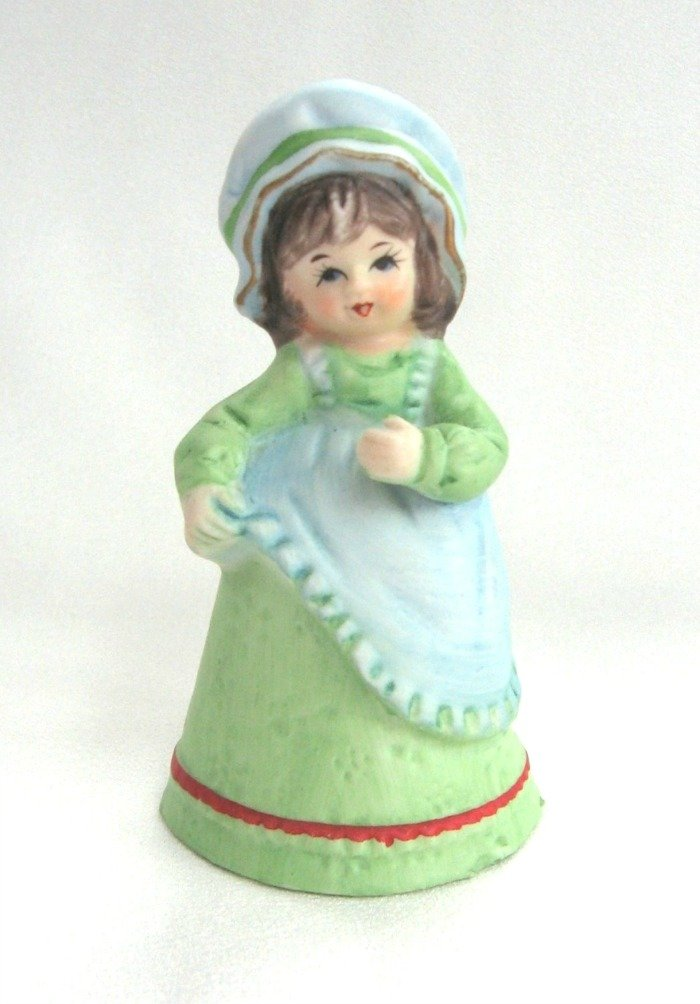 Lady Bell Vintage Woman Porcelain Jasco Handcrafted 1979