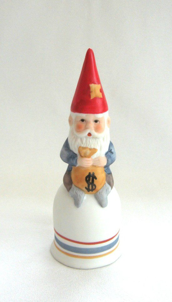 Vintage 1979 Gnome Collectible Bell MSR Imports