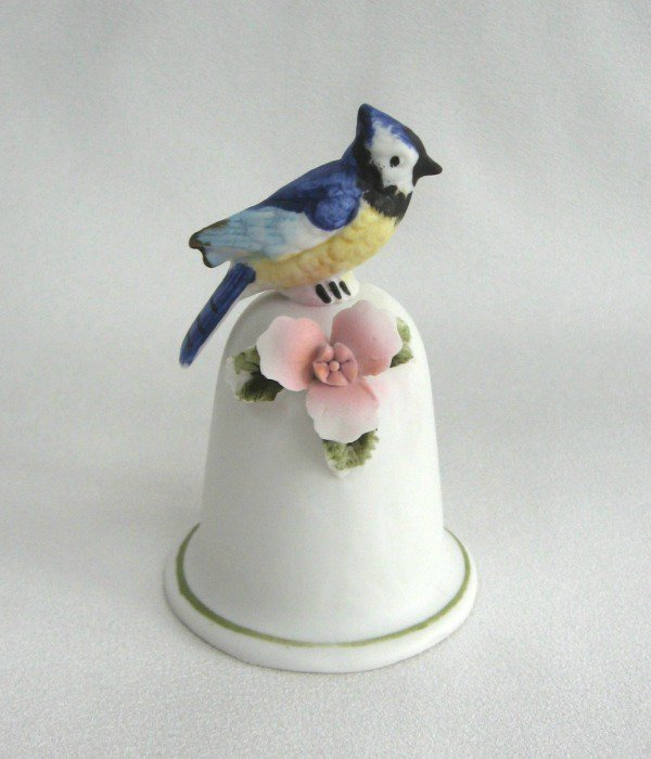 Blue Bird Vintage Bell Fine Quality Porcelain By Lego