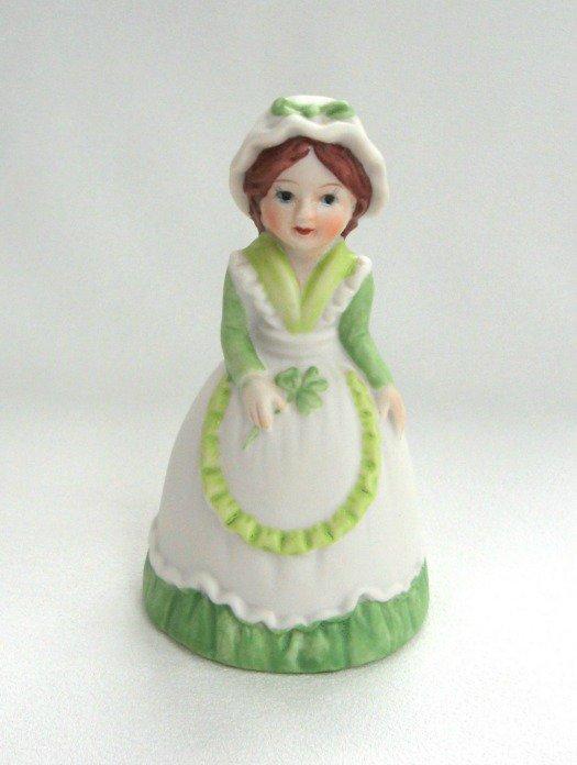 Vintage Porcelain Lady Bell JSNY Jeffrey Snyder New York Irish Lass