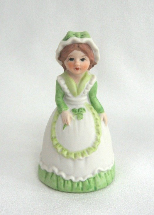 Irish Lass Porcelain Lady Bell Vintage JSNY Jeffrey Snyder New York Retro