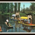 Vintage Postcard Lake Xochimilco Mexico City 1960's