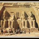 Vintage Postcard Egypt The Temple Of Abu Sembel