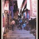 Vintage Postcard Jerusalem Israel The Market 1950s