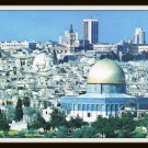 Vintage Postcard Jerusalem Israel Seen From Mt. Of Olives 1950s