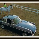 Classic British Sports Car MGB GT Vintage Postcard 1960s