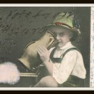 Early 1900's German Antique Postcard Ben Franklin 1 Cent Stamp