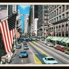 Vintage Chicago Pictorial Postcard Plus Pocket Map Guide Junction Of Americas Crossroads 1950s