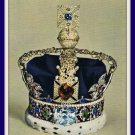 Vintage Postcard Imperial State Crown King George VI London England 1960s