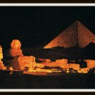 Vintage Postcard Egypt Sound And Light At The Pyramids of Giza 1950s