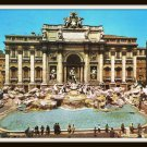 Vintage Postcard Rome Italy Fountain Of Trevi Roma 1967