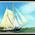 Vintage Postcard Hong Kong Hilton Brigantine Wan Fu Ship Vessel 1960s