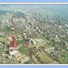 Vintage Postcard Aerial View of Tokyo Japan Airlines 1960s