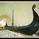 Vintage Postcard Oslo Norway The Viking Ships Museum Oseberg Ship 1950s