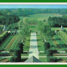 Vintage Postcard The Palace Gardens Williamsburg Virginia 1950s