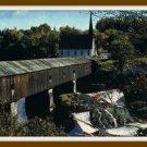 Vintage Postcard Historic Covered Bridge New England 1950s