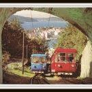 Vintage Postcard Norway Bergen Floyen Railway Trains 1960s