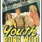 Youth Runs Wild 1944 Large Postcard From The Great Trash Films Movie Poster Vintage 1989