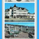 Large Vintage Postcard Iroquois On The Beach Mackinac Island 80's Michigan