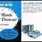 Lou Rawls Sandy Duncan Large Vintage Promo Card Postcard Las Vegas Hilton 1970s